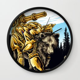 Golden Bearborg Wall Clock