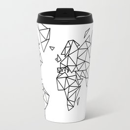Geometric Low Poly Map of The World / Polygon geometry Travel Mug
