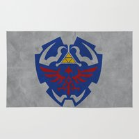 hyrule Area & Throw Rugs featuring Hyrule Rulez #001 by Be Yourself