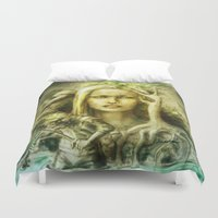 norway Duvet Covers featuring Norway by Holly Carton