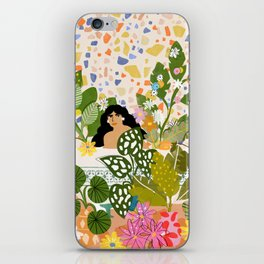 Bathing with Plants iPhone Skin