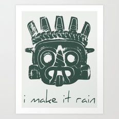 Tlaloc, Supreme God Of The Rains Art Print