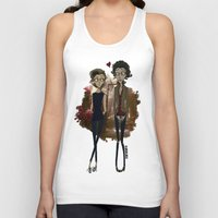 "tim burton Tank Tops featuring "" Larry Burton "" by Karu Kara"