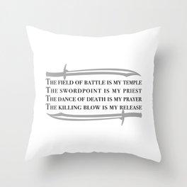 Battle Mantra Throw Pillow