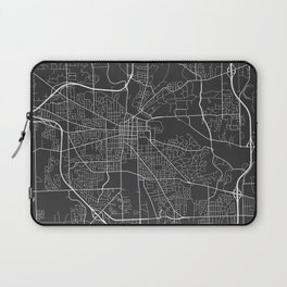 Ann Arbor Map, USA - Gray Laptop Sleeve