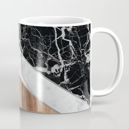 Arrows - Black Granite, White Marble & Wood #366 Coffee Mug