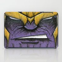 thanos iPad Cases featuring The Mad Titan by chris panila