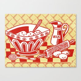 Mixing Up Something Good In The Kitchen Canvas Print