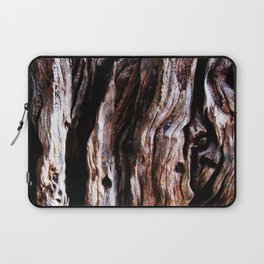 Ancient olive tree wood close-up Laptop Sleeve