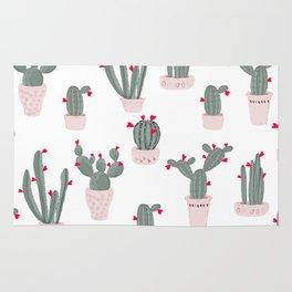 Love in the Desert Cacti Pattern Rug