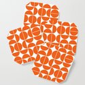 Mid Century Modern Geometric 04 Orange by theoldartstudio