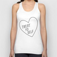 treat yo self Tank Tops featuring Treat Yo Self by Evelyne van den Broek