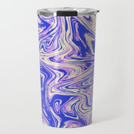 Purple marble with raspberry tint Travel Mug