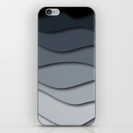 Abstract wavy design iPhone Skin