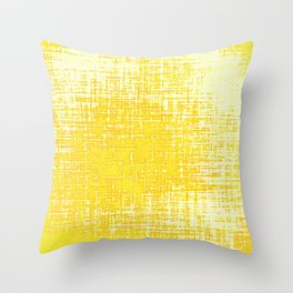 Woven Illuminating Yellow and White Abstraction Throw Pillow