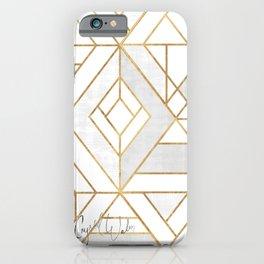 Nola Mod Mosaic - White gray gold iPhone Case