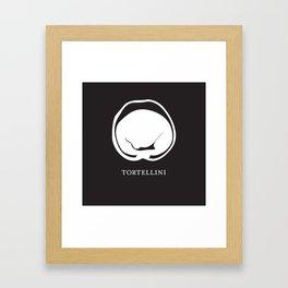 Pasta Series: Tortellini, Black Framed Art Print