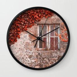 Red Ivy Wall Wall Clock