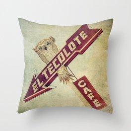 El Tecolote Cafe Sign Throw Pillow