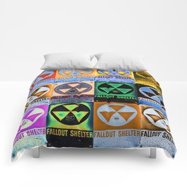 Fallout Shelter Mosaic Comforters