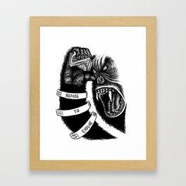 Refuse To Evolve Framed Art Print