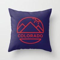 colorado Throw Pillows featuring Colorado by BMaw