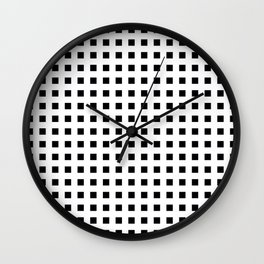 EDELWEISS bold white lines form grid on black background Wall Clock