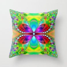 Abstract Jewel Butterfly  Throw Pillow