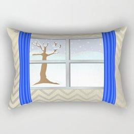 Window view in winter Rectangular Pillow