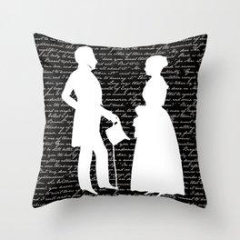 Pride and Prejudice design Throw Pillow