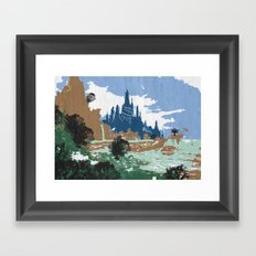 fairytale kingdom Framed Art Print
