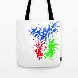 RGB Splash Tote Bag
