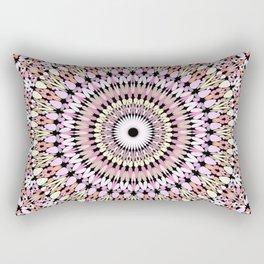 Light Pastel Gravel Mandala Rectangular Pillow