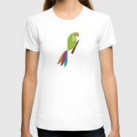 parrot T-shirts featuring Parrot by Juliana Motzko