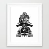 totem Framed Art Prints featuring Totem by DIVIDUS