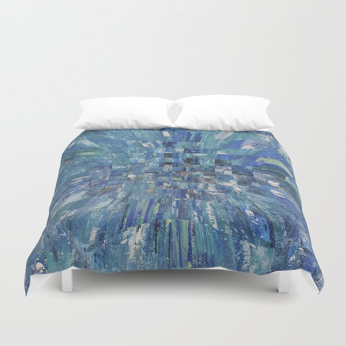 Abstract blue pattern 5 Duvet Cover