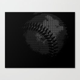 Baseball Illusion Canvas Print