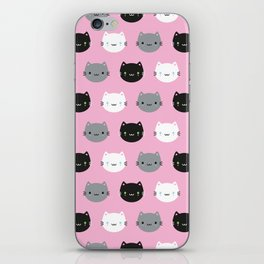 Cute Cats & Kawaii Kittens (Pink) iPhone Skin