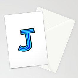 Uppercase Letter J Doodle Stationery Cards