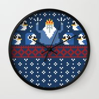 minions Wall Clocks featuring Ice King and Minions by paperboyjim