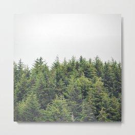 Verdant Tree Tops Metal Print