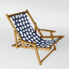 Dots / Navy Sling Chair