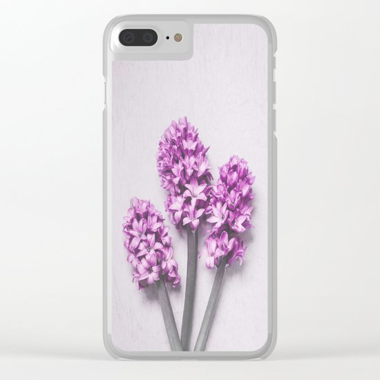 Pink Hyacinths Clear iPhone Case