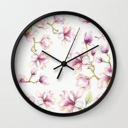 Delicate Magnolia 2 Wall Clock