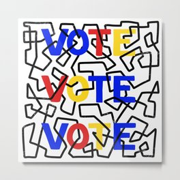 VOTE abstract design Metal Print