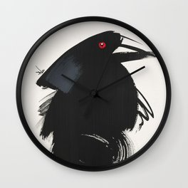 Bronzed cowbird Wall Clock