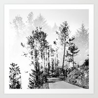 woodland Art Prints featuring Woodland by Schwebewesen • Romina Lutz