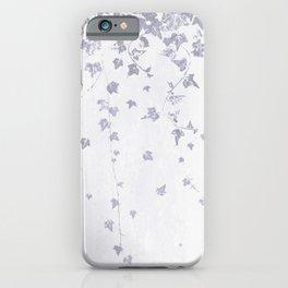 Soft Purple Trailing Ivy Leaf Print iPhone Case