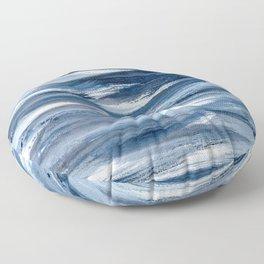 Just Indigo 2 | Minimalist Watercolor Floor Pillow