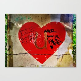 Graffiti Heart Canvas Print